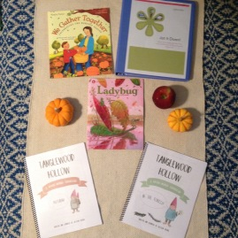 Tanglewood Hollow's Nature Curriculums of Autumn and The Forest, Ladybug Magazine, Jot It Down from BraveWriter and the book, We Gather Together